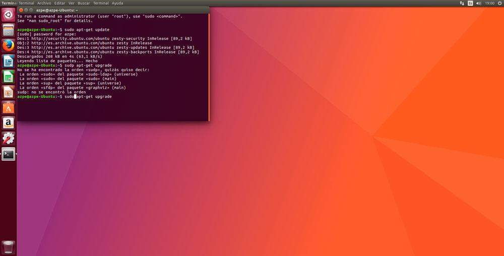 Ubuntu 17.04 update comandos