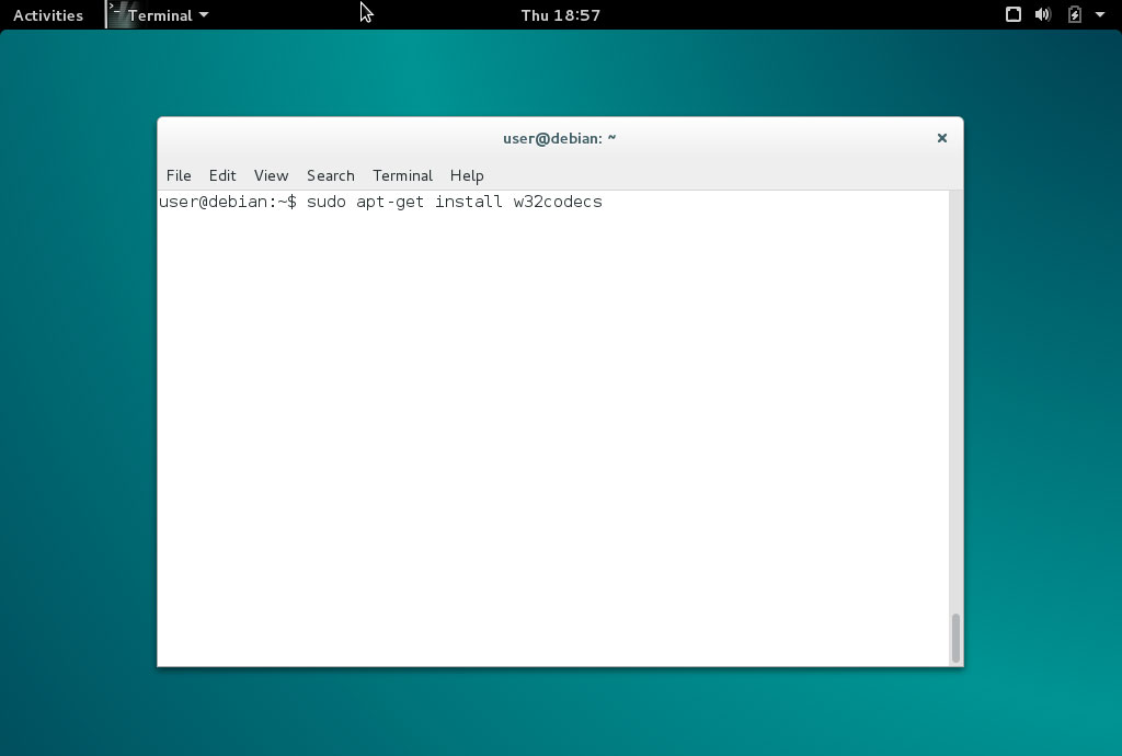 Instalar codecs Debian