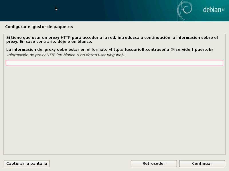 Debian gestor paquetes proxy