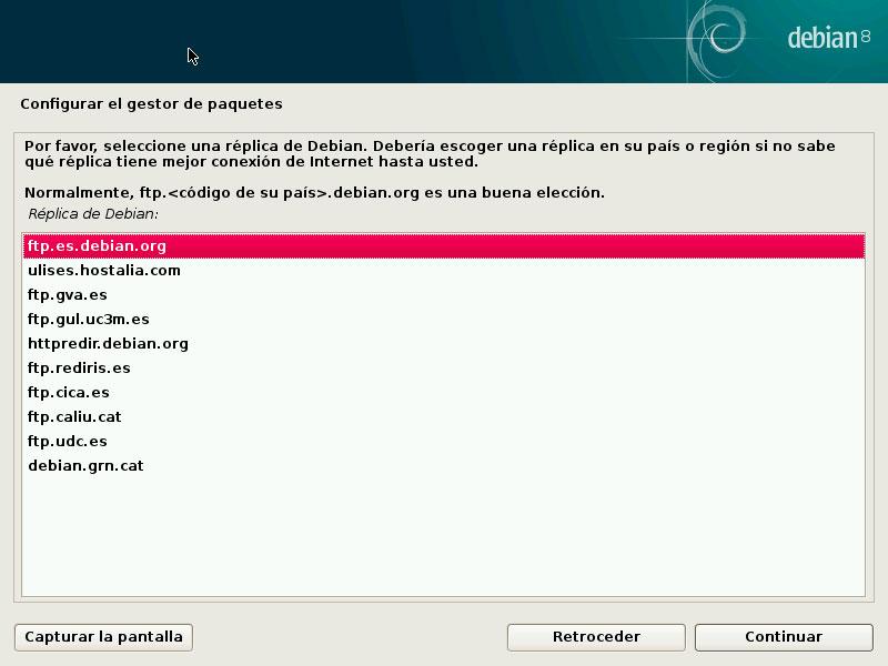 Debian gestor paquetes FTP