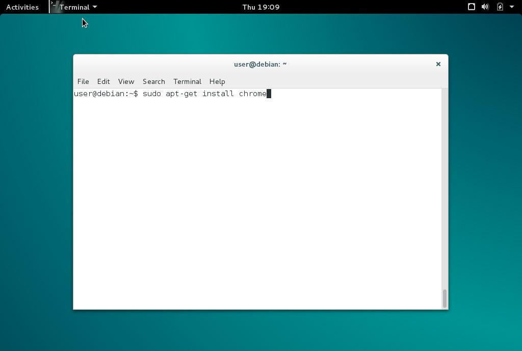Debian comando install