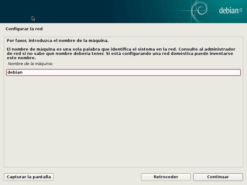 Debian nombre maquina