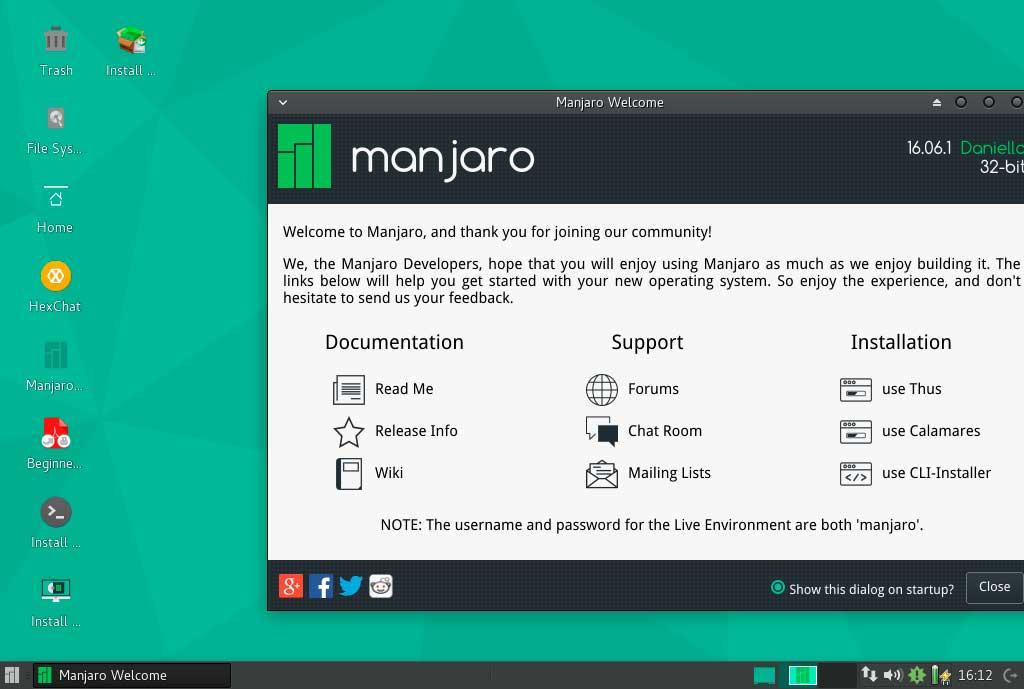 Manjaro Welcome