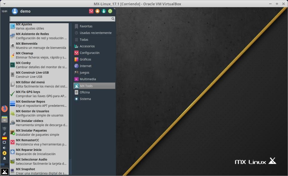 MX-Linux 17.1: Menú de Herramientas Propias