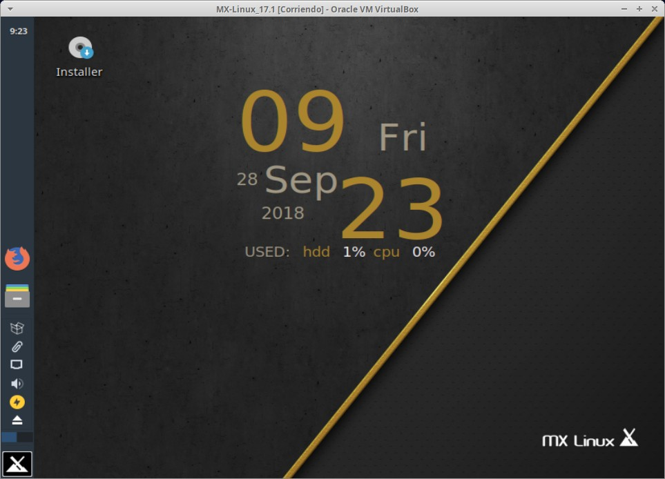 MX-Linux 17.1: Imagen de inicio - Escritorio predeterminado