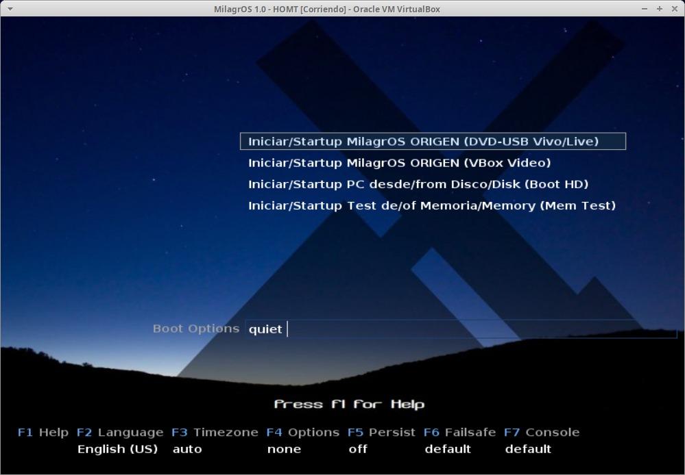 MilagrOS 1.0: Instalacion Paso 1