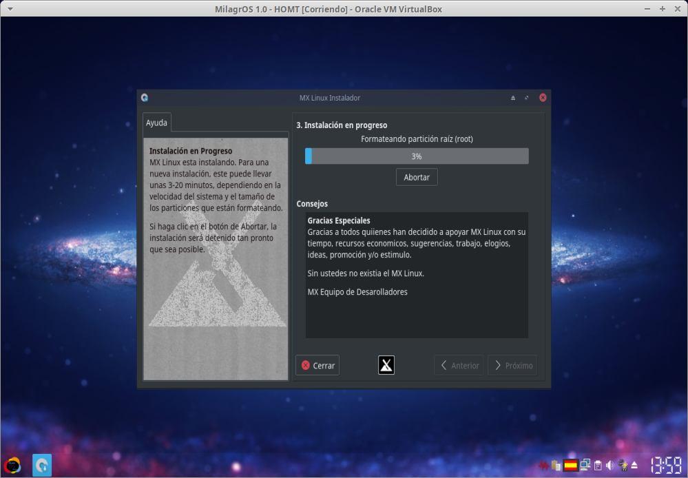 MilagrOS 1.0: Instalacion Paso 13
