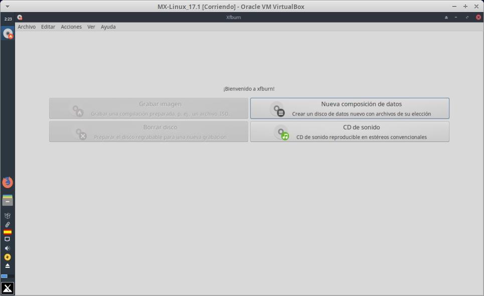 Mx-Linux 17.1: XFBurn