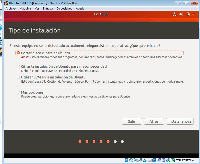 Ubuntu 18.04 formatear disco