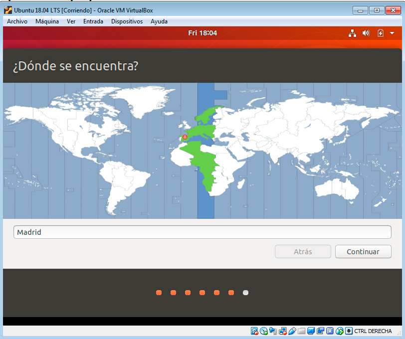 Ubuntu 18.04 husos horarios
