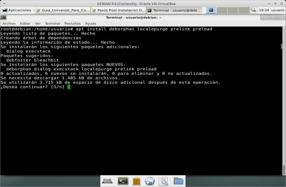 Guia Post Instalación: Instalacion de paqutes de optimización