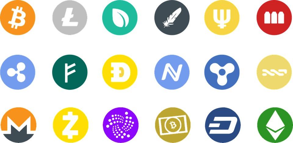Criptomonedas: Banner de diferentes Criptos