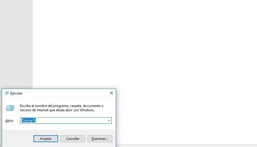 funcion ejecutar windows 10