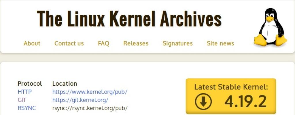 Kernel Linux: Página Web