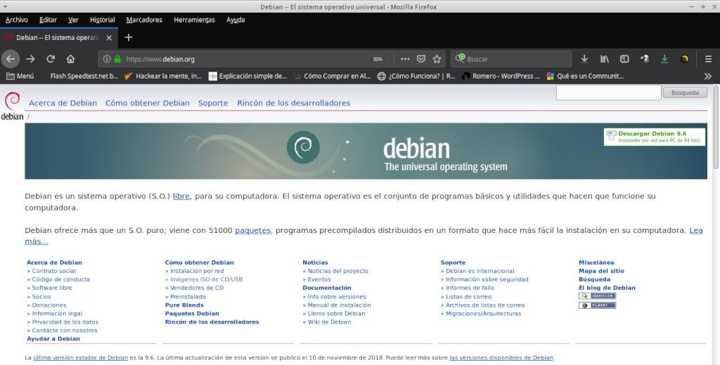 Proyecto DEBIAN: Pagina Web