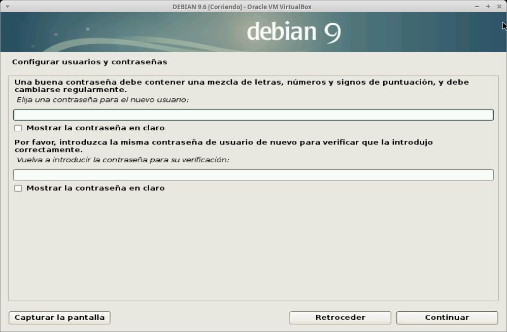 Paso 11 - Instalación de DEBIAN GNU/Linux 9.6