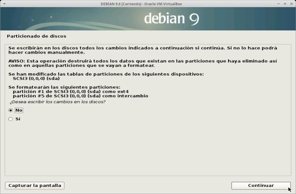 Paso 17 - Instalación de DEBIAN GNU/Linux 9.6