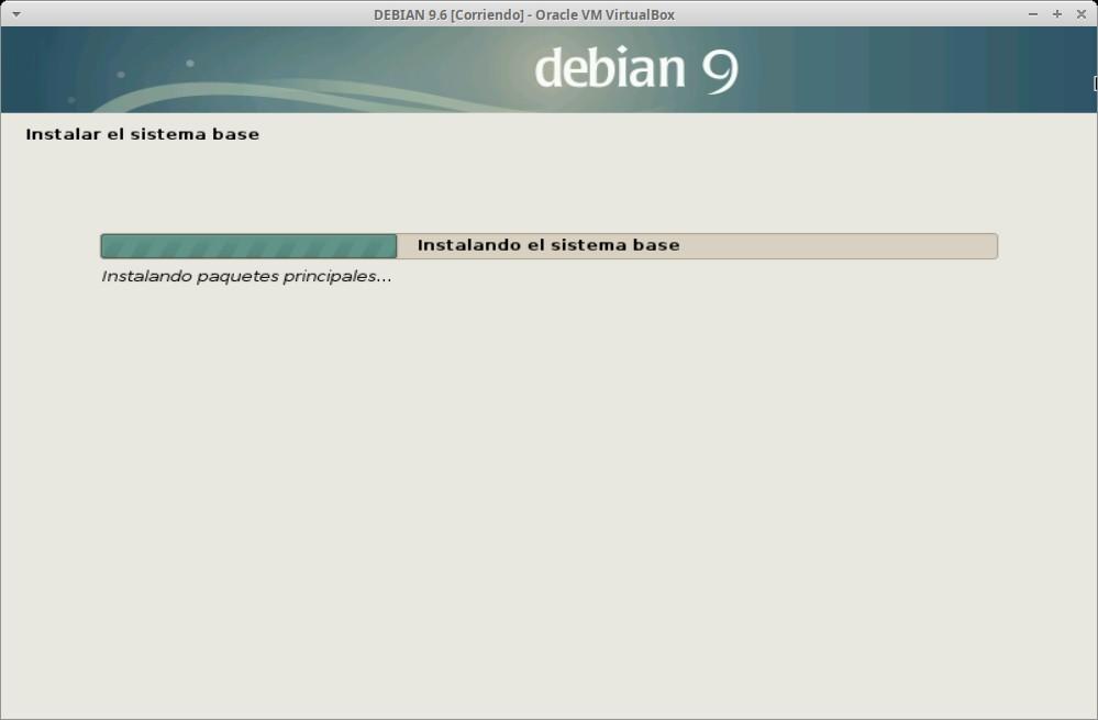 Paso 18 - Instalación de DEBIAN GNU/Linux 9.6