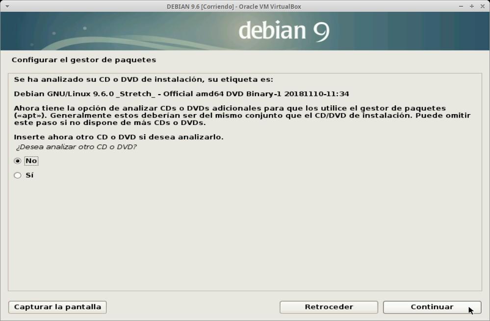 Paso 19 - Instalación de DEBIAN GNU/Linux 9.6