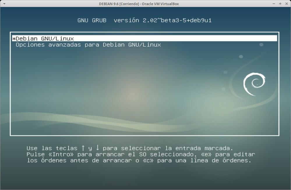 Guia Post Instalación: Iniciar primera carga del Sistema Operativo