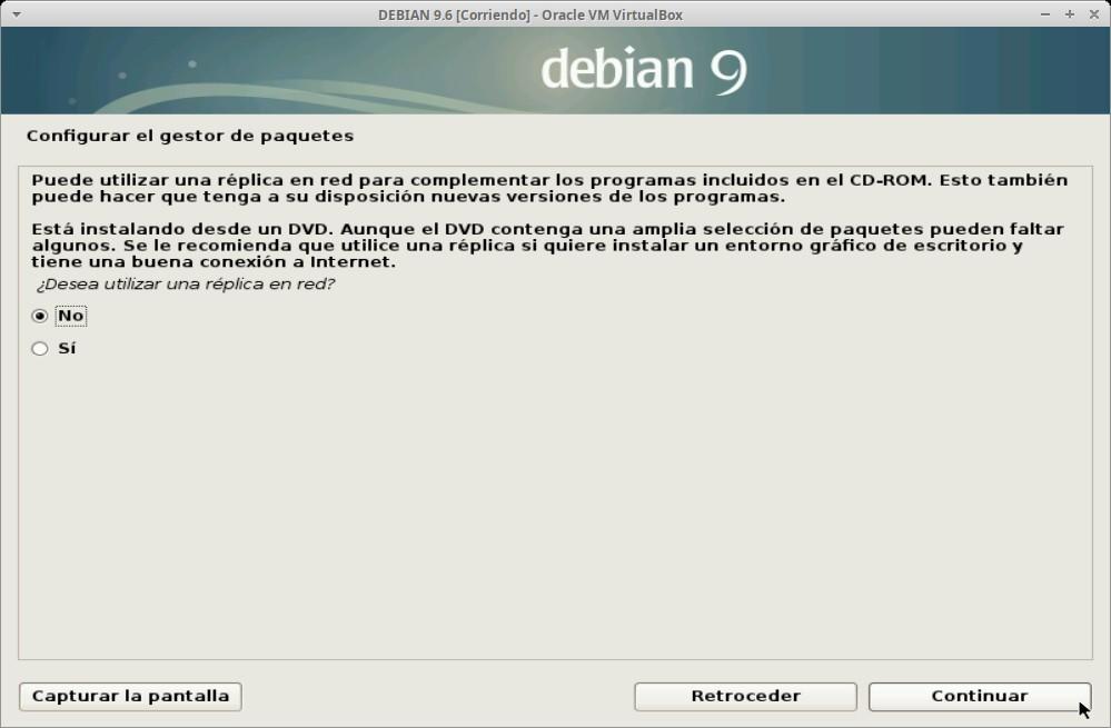 Paso 20 - Instalación de DEBIAN GNU/Linux 9.6