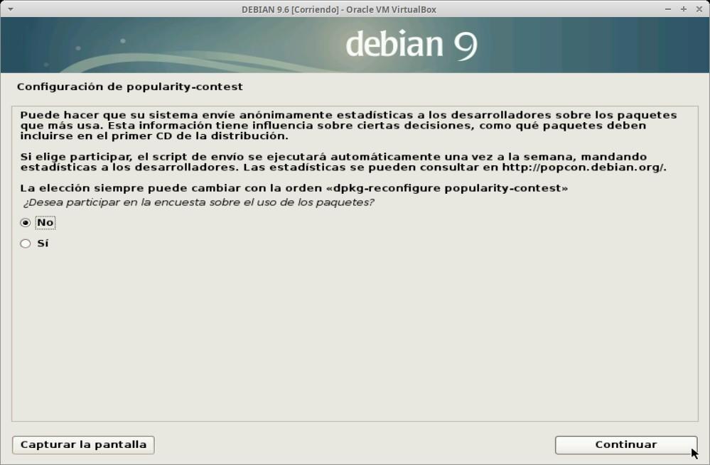 Paso 22 - Instalación de DEBIAN GNU/Linux 9.6