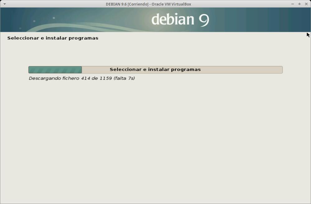 Paso 24a - Instalación de DEBIAN GNU/Linux 9.6