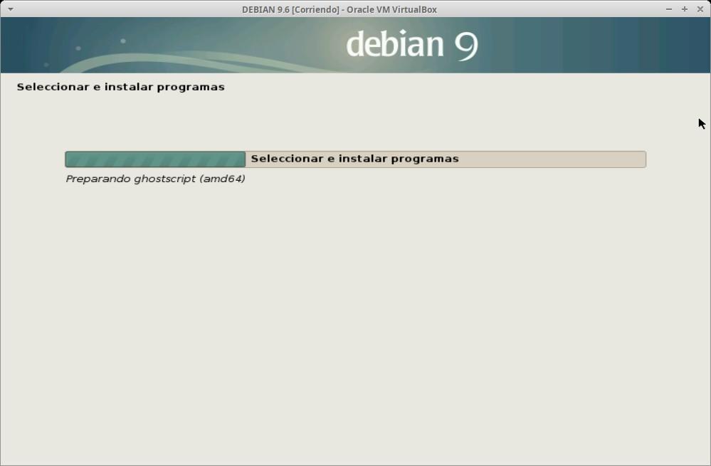 Paso 24b - Instalación de DEBIAN GNU/Linux 9.6