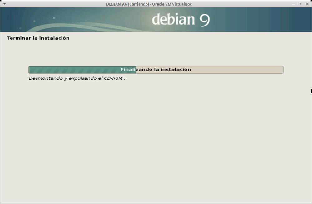Paso 26a - Instalación de DEBIAN GNU/Linux 9.6