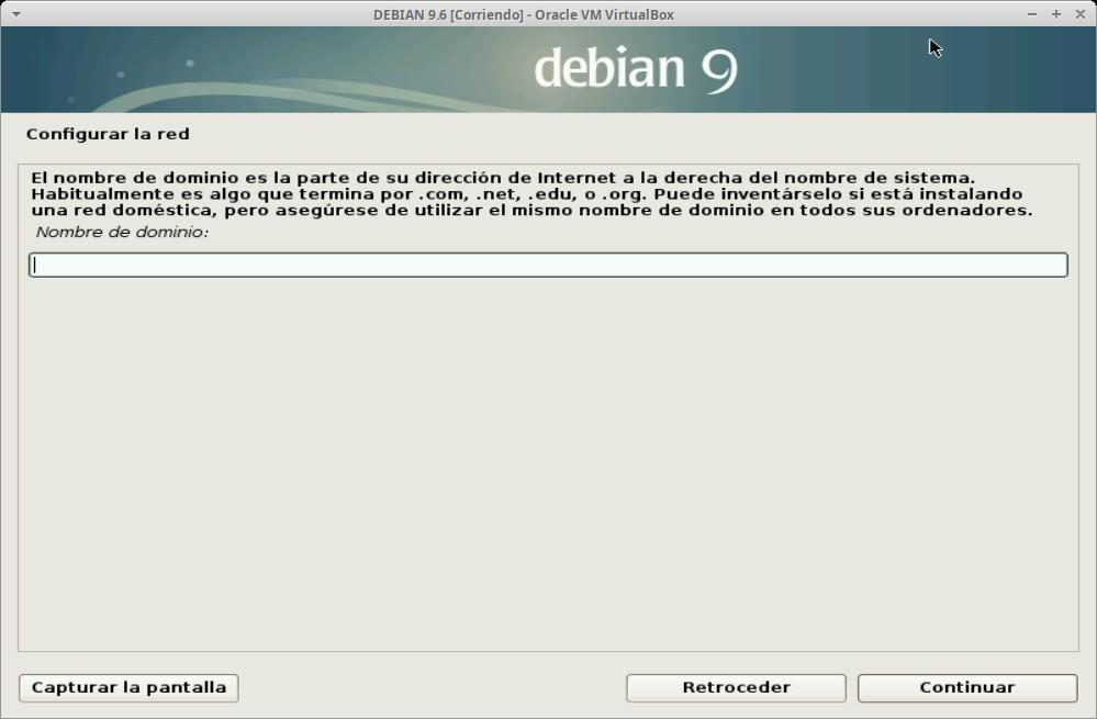 Paso 7 - Instalación de DEBIAN GNU/Linux 9.6