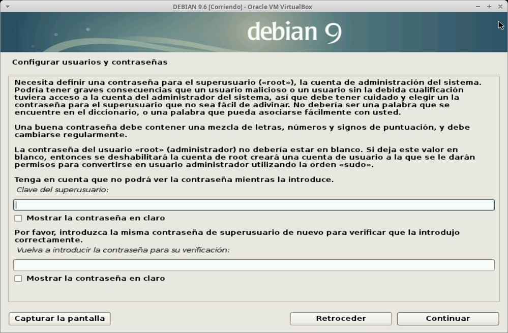 Paso 8 - Instalación de DEBIAN GNU/Linux 9.6