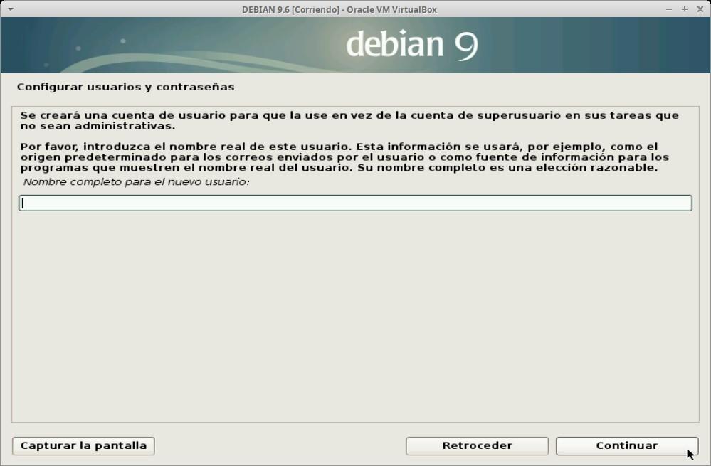 Paso 9 - Instalación de DEBIAN GNU/Linux 9.6