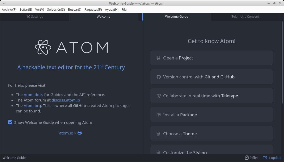 Guia Avanzada Post-Instalación 2: Editor Atom