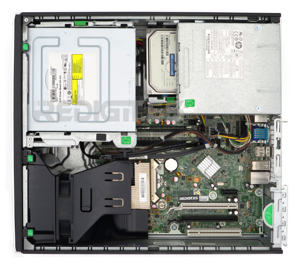 HP 8200 SFF interior