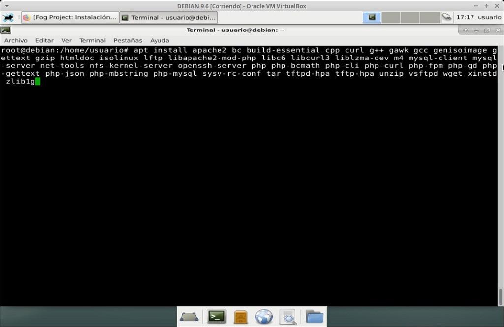 Fog Project: Instalación en MV Debian 9.6 - Paso 01