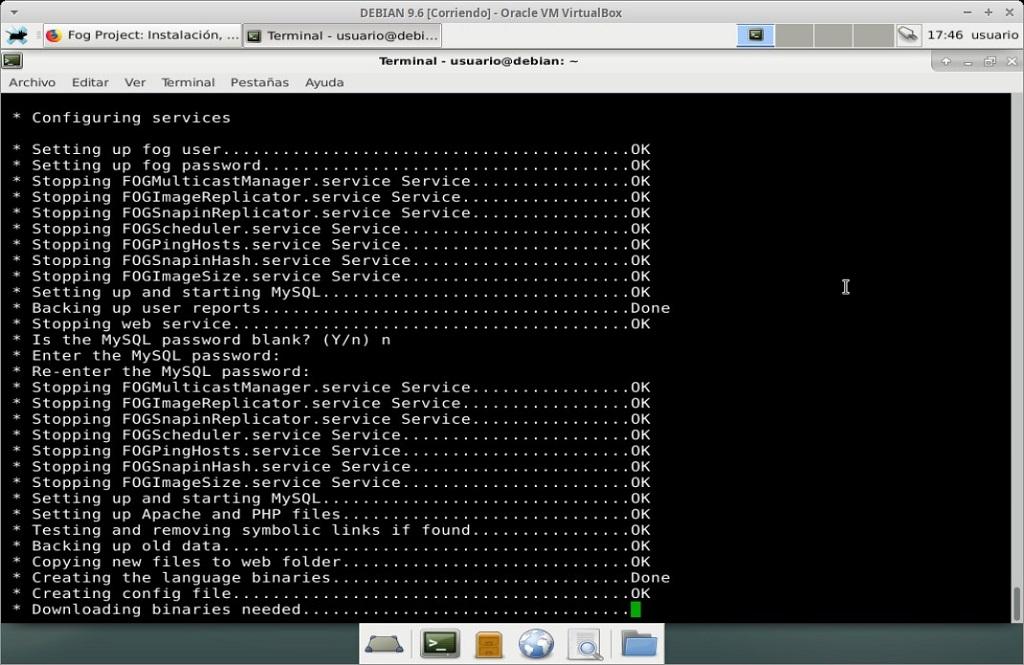 Fog Project: Instalación en MV Debian 9.6 - Paso 18