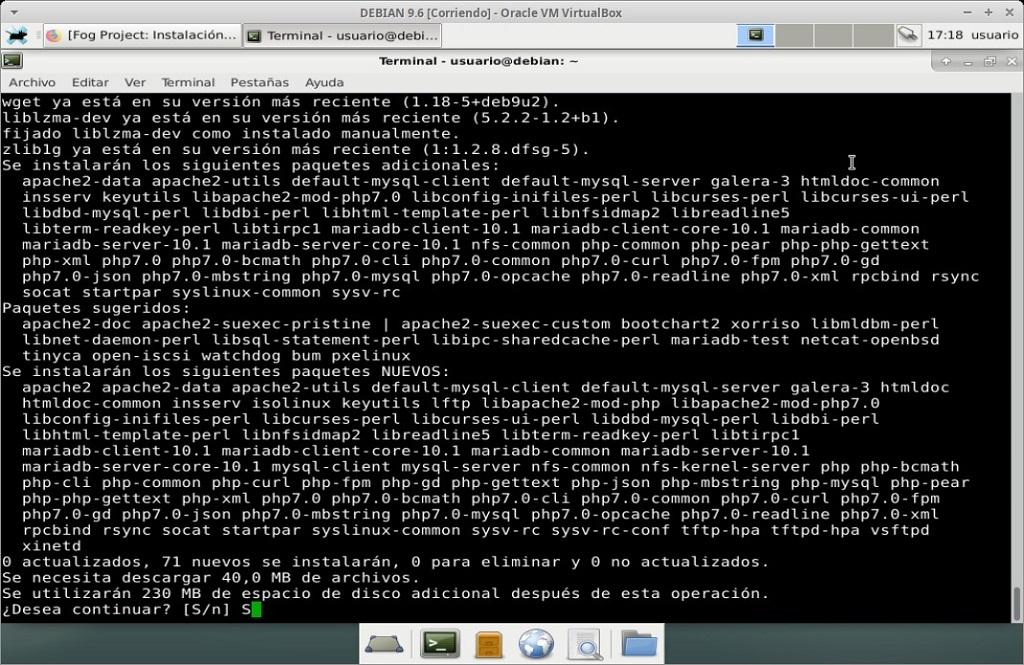 Fog Project: Instalación en MV Debian 9.6 - Paso 02