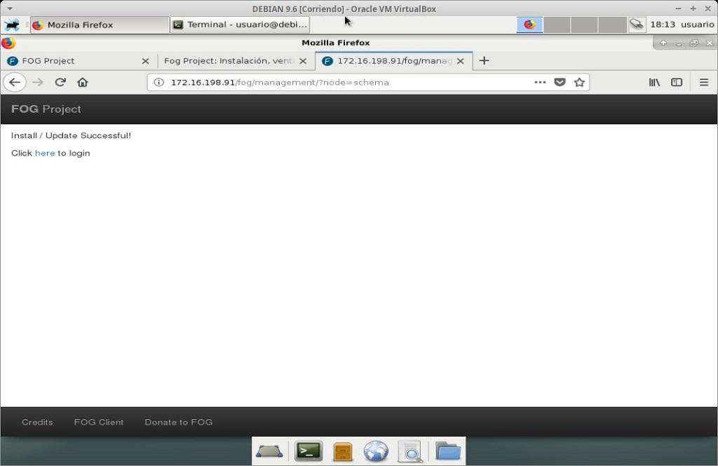 Fog Project: Instalación en MV Debian 9.6 - Paso 21