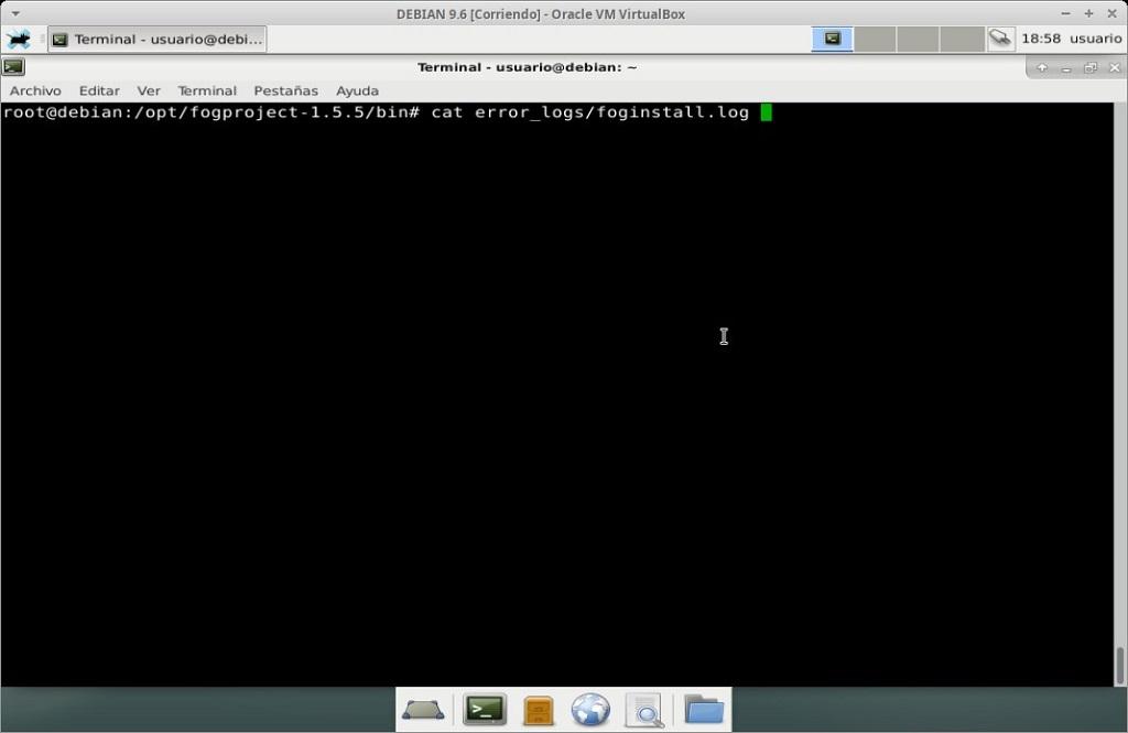 Fog Project: Instalación en MV Debian 9.6 - Paso 28