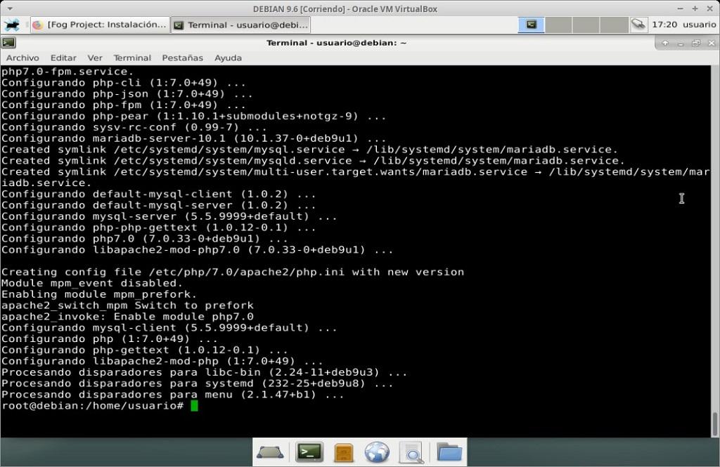 Fog Project: Instalación en MV Debian 9.6 - Paso 03
