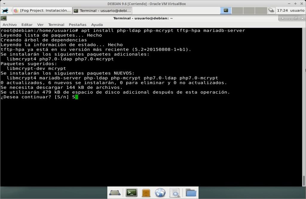 Fog Project: Instalación en MV Debian 9.6 - Paso 04