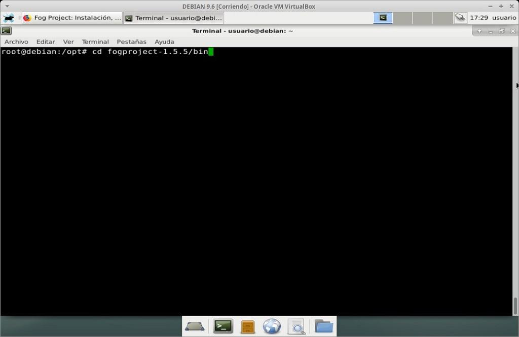 Fog Project: Instalación en MV Debian 9.6 - Paso 07