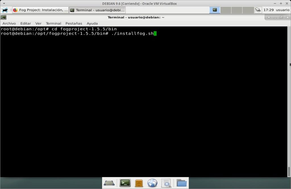 Fog Project: Instalación en MV Debian 9.6 - Paso 09