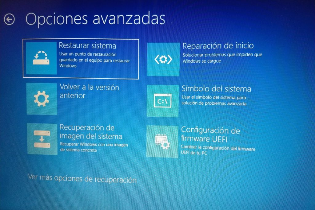guia windows 10 copia de imagen de sistema