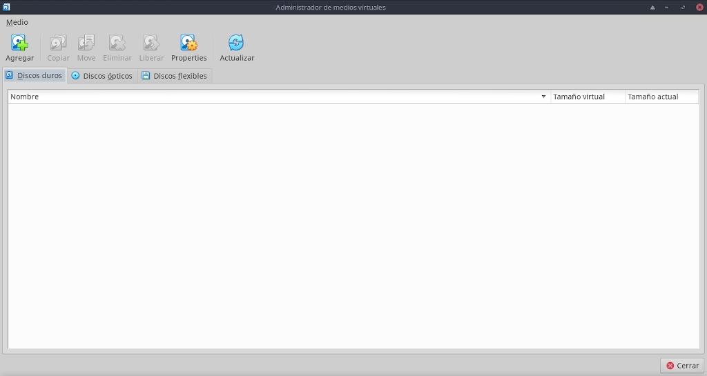 Virtualbox 6.0: Configuración - Archivo - Administradores