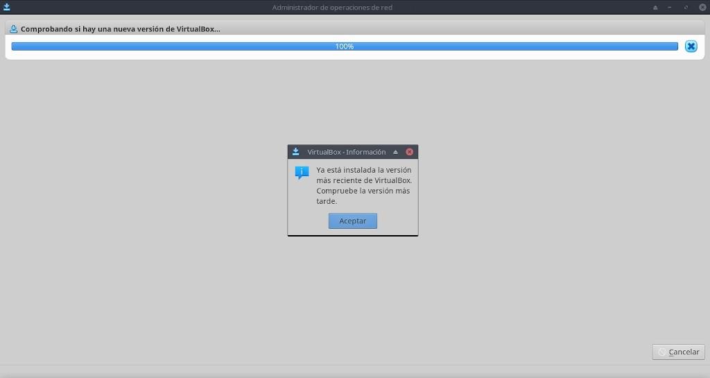 Virtualbox 6.0: Configuración - Archivo - Administrador y Comprobador