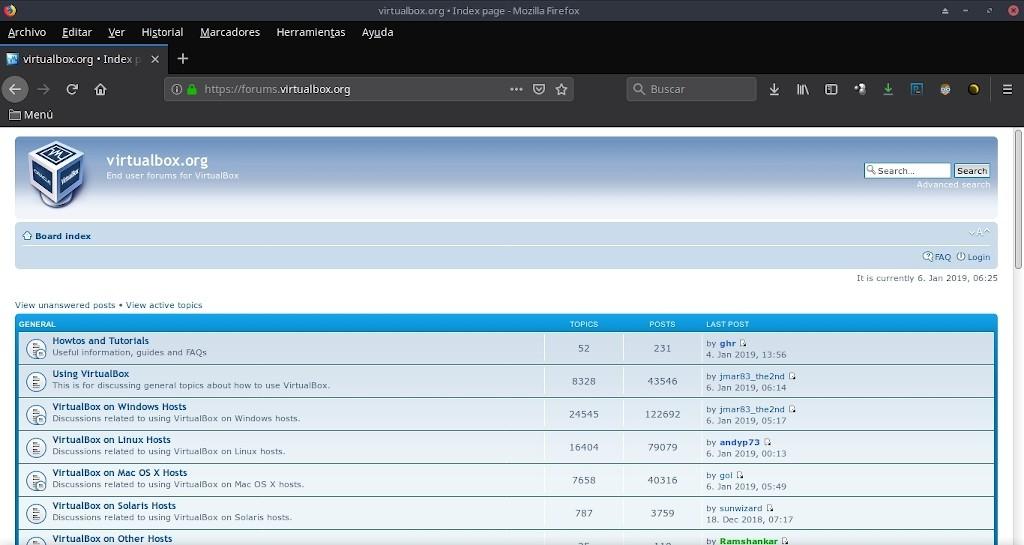 Virtualbox 6.0: Configuración - Ayuda - Foros