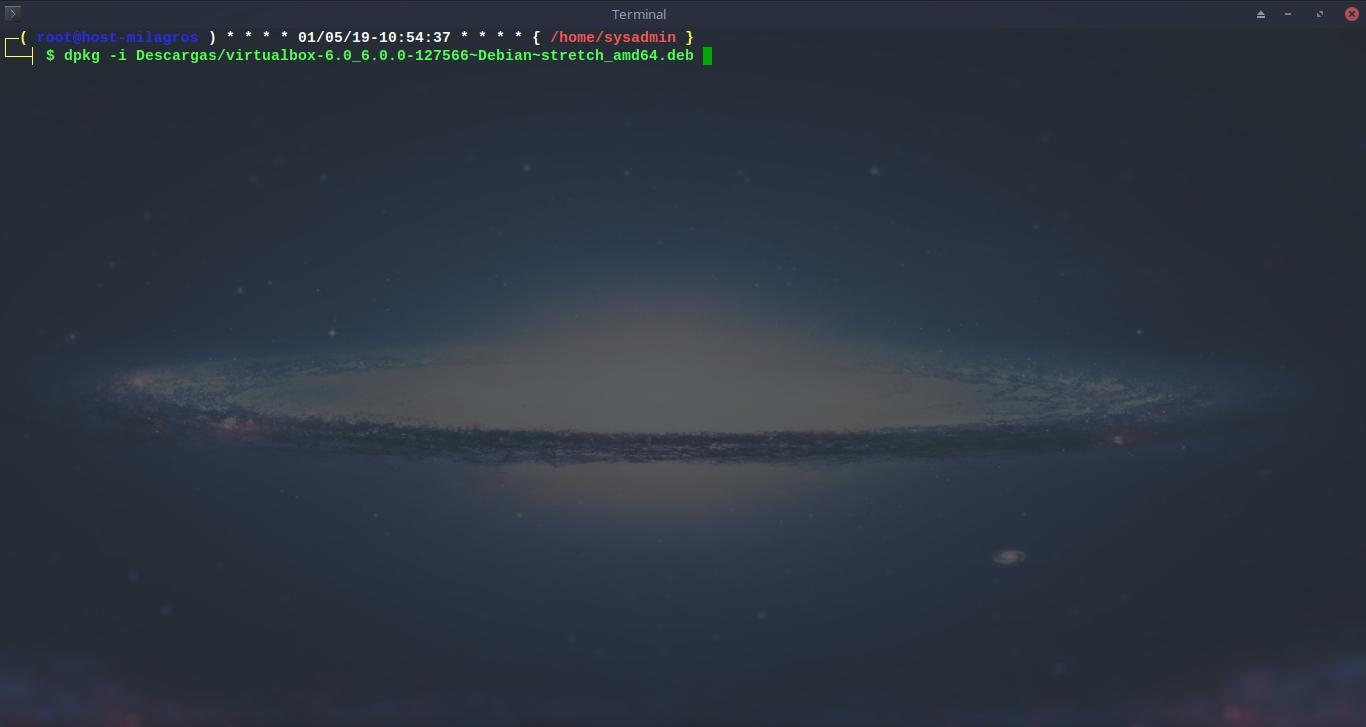 Virtualbox 6.0: Instalación - Metodo 1