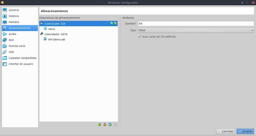 Virtualbox 6.0: Buena Practicas - Configuración - Almacenamiento