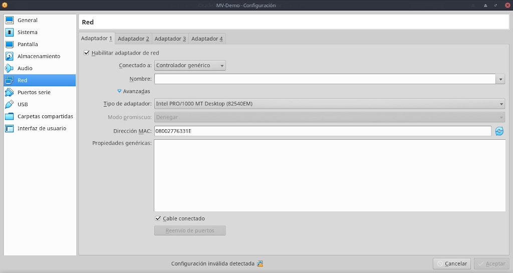 Virtualbox 6.0: Buena Practicas - Configuración - Red